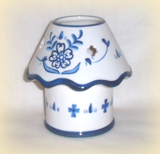 Blue Delft Votive Lamp