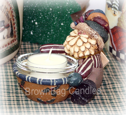 Santa Tea Light Holder