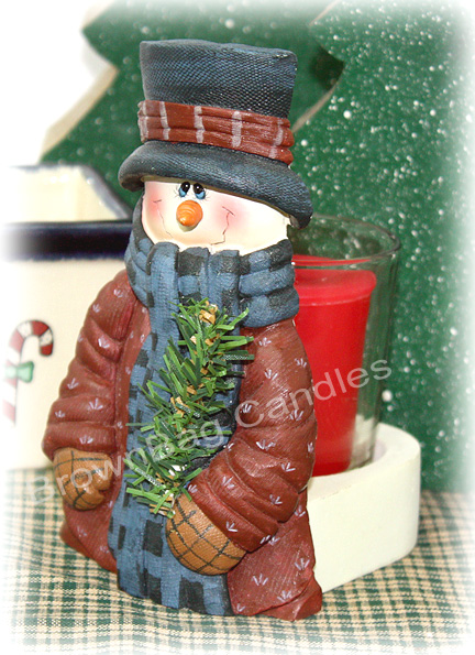 Crazy Mountain Snowman Votive Holder